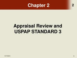 Appraisal Review and USPAP STANDARD 3