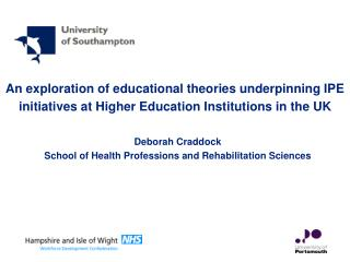 An exploration of educational theories underpinning IPE initiatives at Higher Education Institutions in the UK