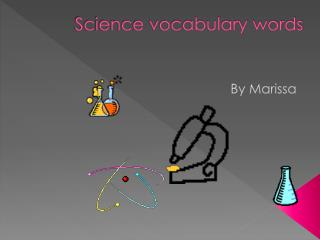 Science vocabulary words