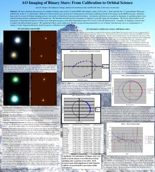 AO Imaging of Binary Stars: From Calibration to Orbital Science