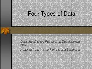 Four Types of Data