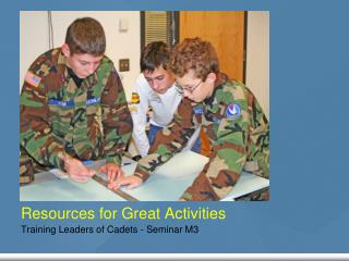Resources for Great Activities