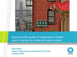 Improving the quality of responses to health search queries by evidence-based context
