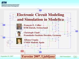 Electronic Circuit Modeling and Simulation in Modelica