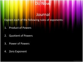 Do Now: Journal