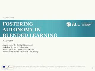 FOSTERING AUTONOMY IN BLENDED LEARNING