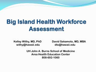 Big Island Health Workforce Assessment