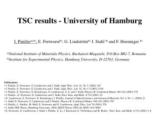 TSC results  - University of Hamburg