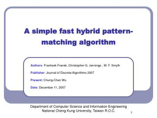 A simple fast hybrid pattern-matching algorithm