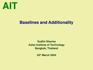 Baselines and Additionality