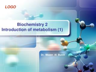 Biochemistry 2 Introduction of metabolism (1)