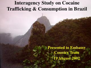 Interagency Study on Cocaine Trafficking & Consumption in Brazil