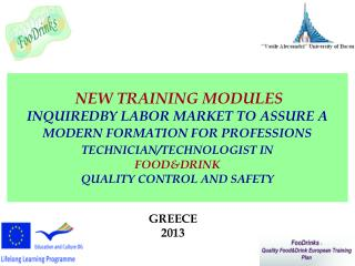 NEW TRAINING MODULES