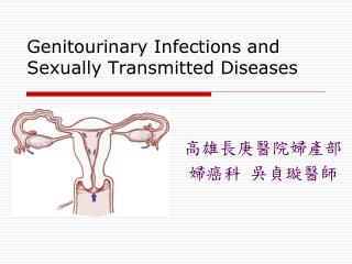 Genitourinary Infections and Sexually Transmitted Diseases