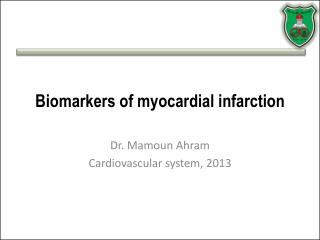 Biomarkers of myocardial infarction