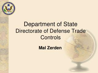 Department of State Directorate of Defense Trade Controls