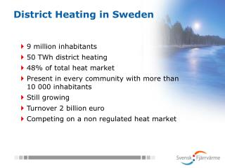 District Heating in Sweden