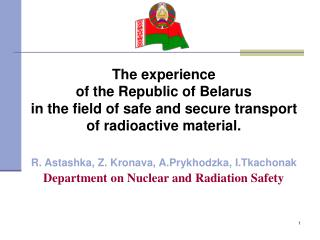 The experience of the Republic of Belarus
