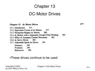 Chapter 13 DC-Motor Drives