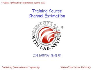 Training Course Channel Estimation