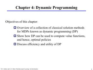 Chapter 4: Dynamic Programming
