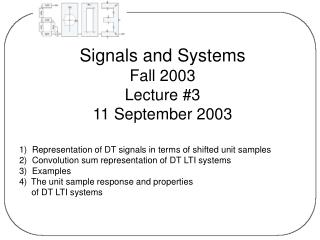 Signals and Systems Fall 2003  Lecture #3 11 September 2003