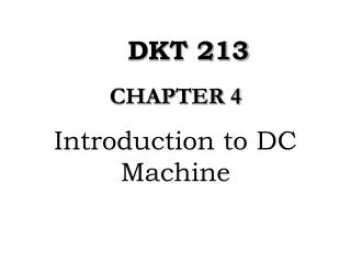 Introduction to DC Machine