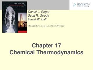 Chapter 17 Chemical Thermodynamics