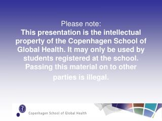 The University of Copenhagen
