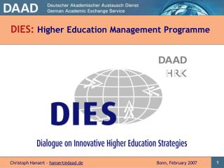 DIES: Higher Education Management Programme