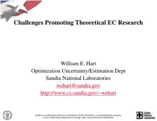 Challenges Promoting Theoretical EC Research