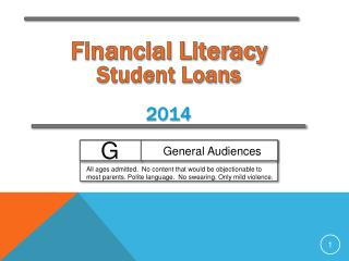 Financial Literacy Student Loans  2014