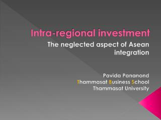 Intra-regional investment