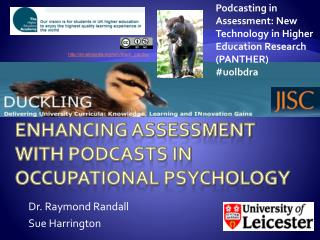 Enhancing assessment with podcasts in Occupational Psychology
