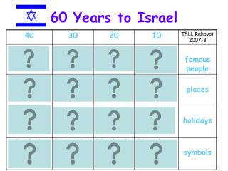 60 Years to Israel