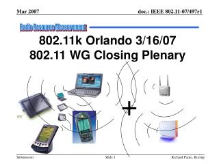 802.11k Orlando 3/16/07 802.11 WG Closing Plenary