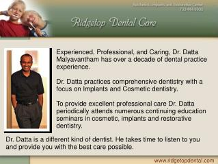 Sterling Virginia Dentist Dr. Datta Malyavantham DDS