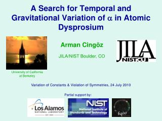 A Search for Temporal and Gravitational Variation of  a  in Atomic Dysprosium