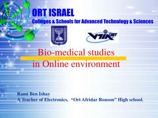 ORT ISRAEL Colleges & Schools for Advanced Technology & Sciences