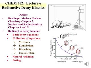 CHEM 702:  Lecture 6 Radioactive Decay Kinetics