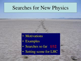 Searches for New Physics