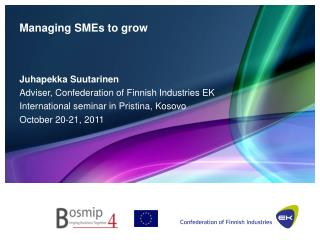 Managing SMEs to grow