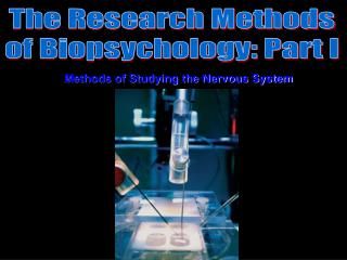 The Research Methods of Biopsychology: Part I