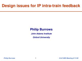 Design issues for IP intra-train feedback
