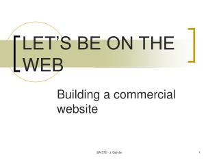 LET'S BE ON THE WEB