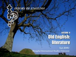 LECTURE  4 Old English: literature