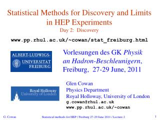 Statistical Methods for Discovery and Limits in HEP Experiments Day 2:  Discovery