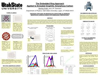The Embedded Ring Approach  Applied to Annealed Graphitic Amorphous Carbon