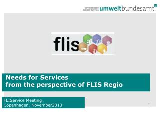 Needs  for  Services  from the perspective of  FLIS  Regio