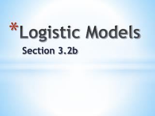 Logistic Models